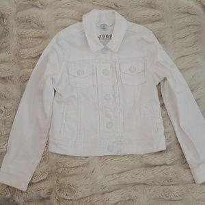 Gap Kids Girls White Jean Jacket